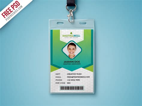 identity card templates free multipurpose photograph id card template psd free psd