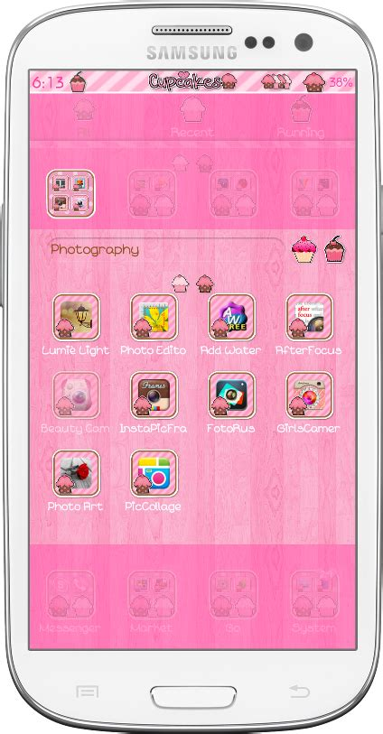 go launcher themes girly pretty droid themes cupcake delights go launcher theme