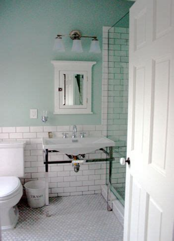 the half wall of subway tile and how it extends to