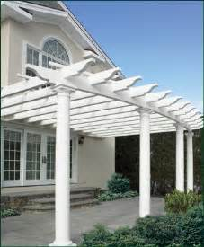 Attached Vinyl Pergola by Attached Curved Pergola Pergolas From Walpole Woodworkers