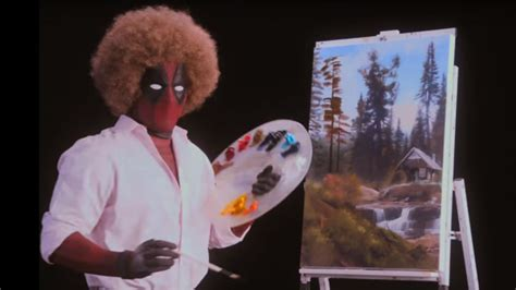 bob ross painting board deadpool 2 teaser trailer offers footage and bob