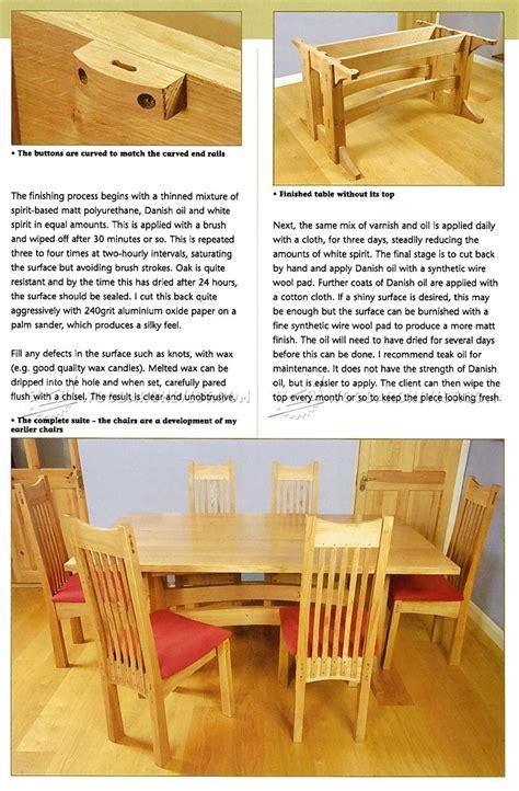 refectory table plans woodarchivist