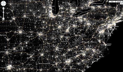 light pollution map washington tent nights arkansas outside