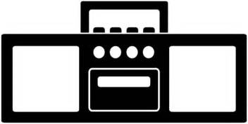 Radio Art Silhouette Black Radio Silhouette Free Clip Art