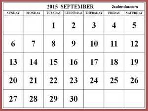 September Calendar 2015 September Calendar