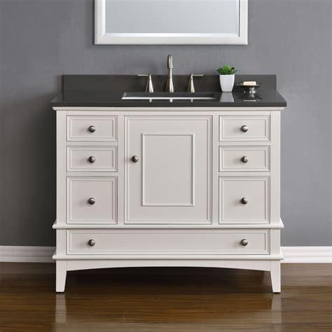 white single sink vanity cambridge 42 quot white single sink vanity mission
