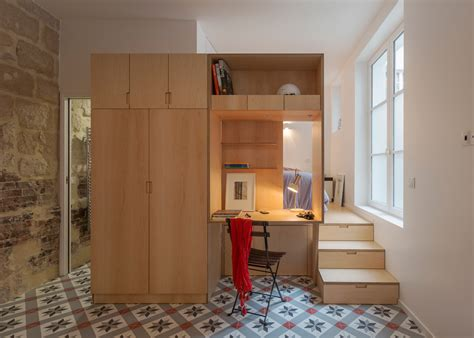 Tiny Apartment by A Small Parisian Apartment Gets A Curvaceous Makeover