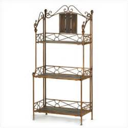 Bakers Rack Shelves Rustic Wood And Metal Baker S 3 Shelf Rack