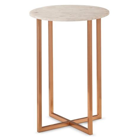 marble top accent table threshold copper accent table with marble top target