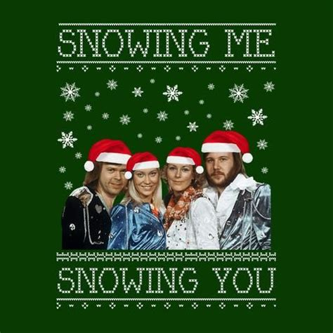 snowing me snowing you abba knit fan including jumpers