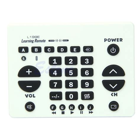 Chunghop Universal Smart Remote For Tv Dvd Cbl Sat L35 chunghop universal smart remote learn function for tv dvd cbl sat l199e white