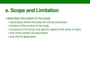 Research Paper Scope And Limitations Exle by Writing Thesis Chapters 1 3 Guidelines