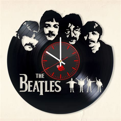 vinyl record wall clock the beatles handmade vinyl record wall clock fan gift