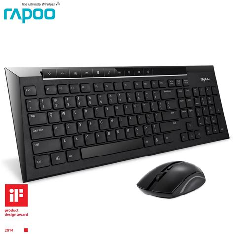 Keyboard Wireless Slim rapoo 8200p slim wireless keyboard with mouse multimedia wireless keyboard and mouse for