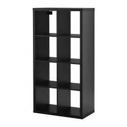 High Gloss White Sideboard Kallax Shelving Unit Black Brown Ikea