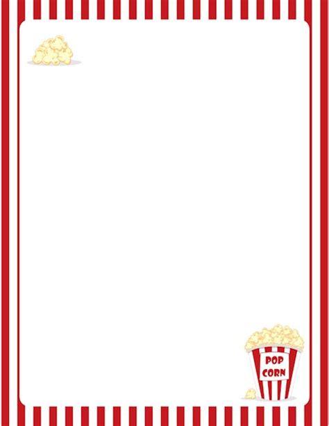 Printable Popcorn Stationary | printable popcorn border free gif jpg pdf and png