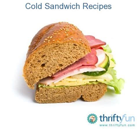 cold sandwich recipes thriftyfun