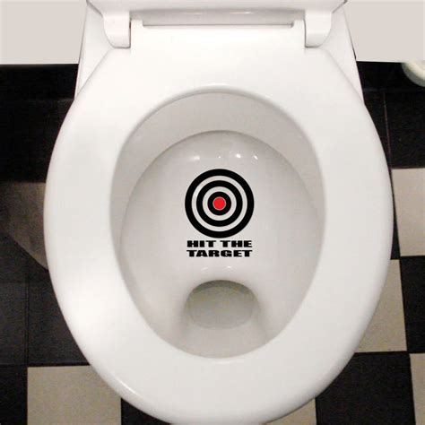 Monster Wall Stickers hit the target funny cool waterproof toilet lid wall