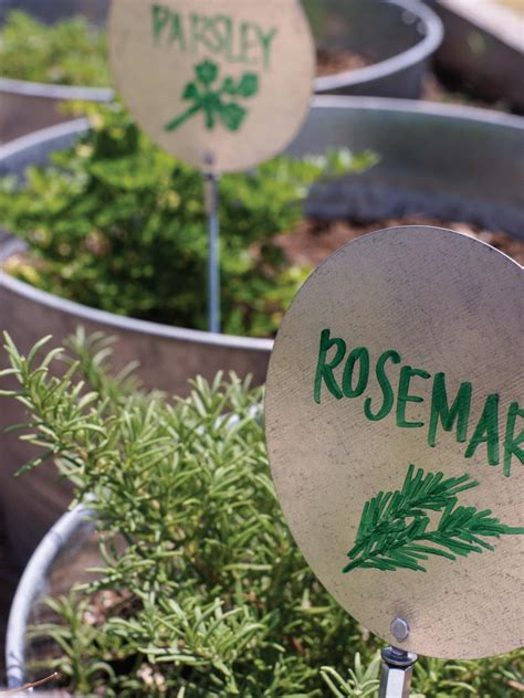 herb garden markers a giveaway the honeycomb home diy garden markers hgtv
