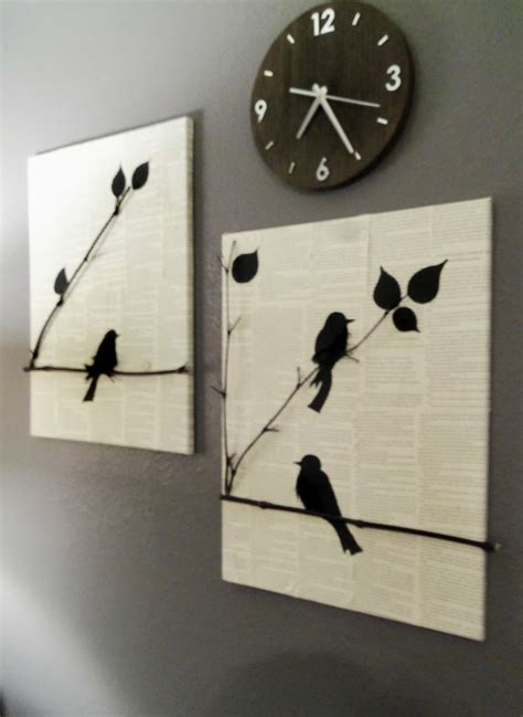 hanging canvas panels mixedmedia diy craft julie prichard diy bird canvas diy i must try pinterest