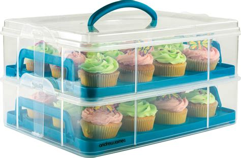 andrew cupcake holder cake carrier container storage box caddy holds 24 ebay
