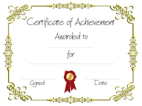 Certificate Of Achievement Templates Loving Printable Editable Certificate Of Achievement Template