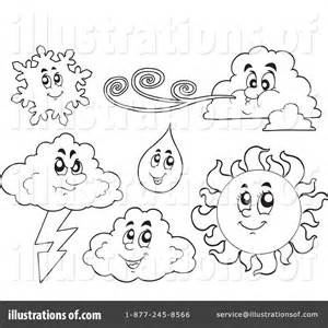 Royalty Free RF Weather Clipart Illustration By Visekart  Stock sketch template