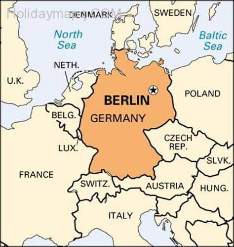 map of germany showing berlin map of europe berlin map travel holidaymapq