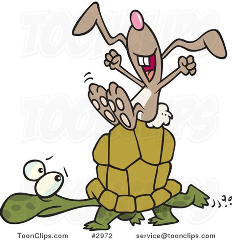 Ro N St Piyama Rabbit lazy hare on a tortoise 2972 by leishman