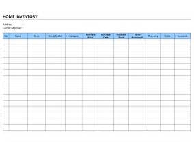 Inventory List Template Home Inventory List Template Free Microsoft Word Templates