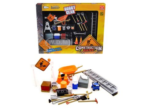Acesoris Diecast Skala 24 construction accessories set for 1 24 diecast car models unique replicas 18425