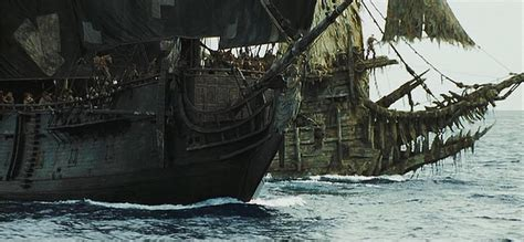 black pearl chased by the flying dutchman pirates of the