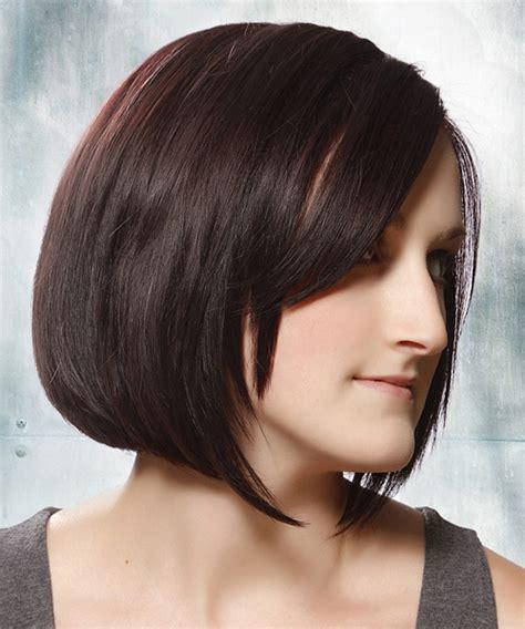 plum burgyndy bob hairstyle medium straight formal bob hairstyle dark brunette plum