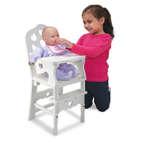 and doug high chair and doug wooden doll high chair baby doll