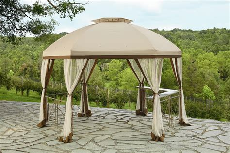 backyard canopy gazebo garden oasis replacement canopy for long beach gazebo