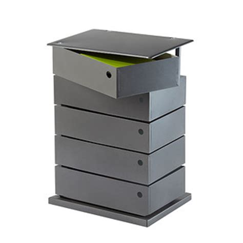 large anthracite 5 bin storage tower