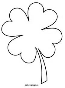 clover flower template four leaf clover coloring page clipart best