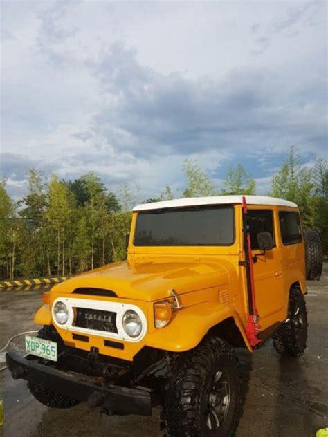 yellow toyota truck yellow toyota fj40 bj40 bj42 diesel