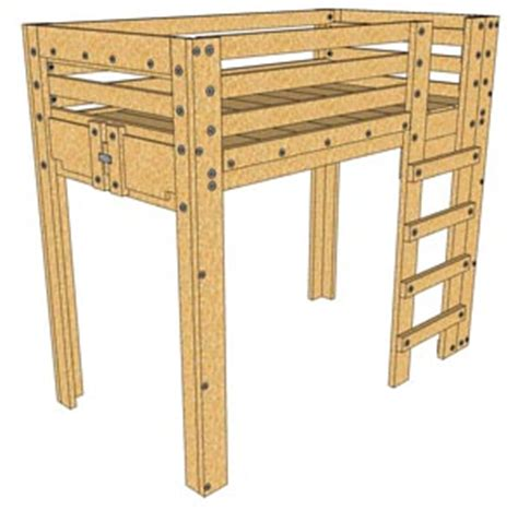 twin loft bed plans twin loft bed plan palmetto bunk beds