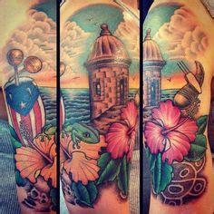 el morro tattoo designs of el morro with hibiscus flower