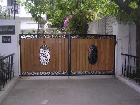 81  Modern Wrought Iron Pipe Main Gate Designs for Homes