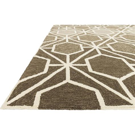 Vintage Outdoor Rug Lita Modern Classic Brown Mocha Retro Outdoor Rug 3 6x5 6 Kathy Kuo Home