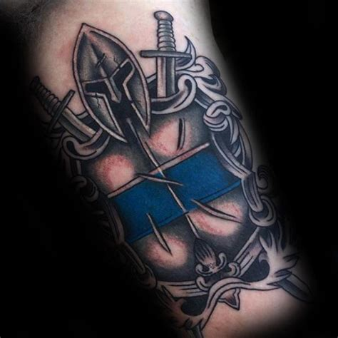 thin blue line tattoos 50 thin blue line designs for symbolic ink ideas