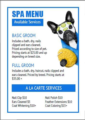 Best 25 Pet Boutique Ideas On Pinterest Dog Boutique Dog Shop And Pet Shop Grooming Price List Template