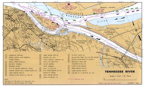 kentucky lake map pdf tennessee river navigation charts of kentucky lake lake