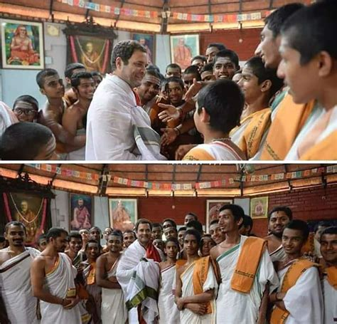 Mba Temple by Rahul Gandhi Lands In Karnataka And His Port Of Call