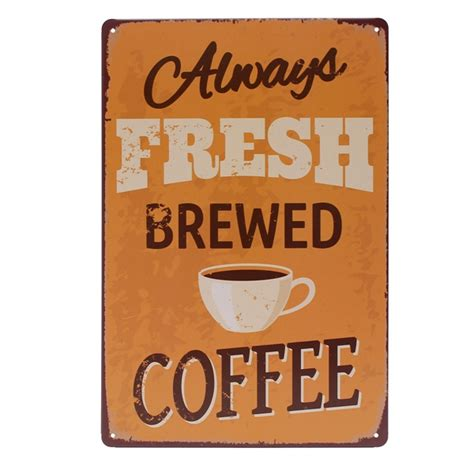 coffee tin sign vintage metal plaque poster bar pub home