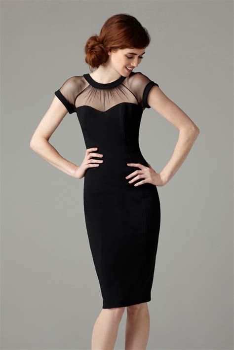 black dress maggy black illusion dress review popsugar fashion