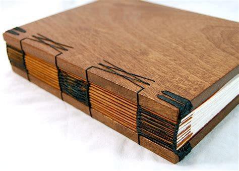 Handmade Wood - steunk handmade wooden journal with antique skeleton key