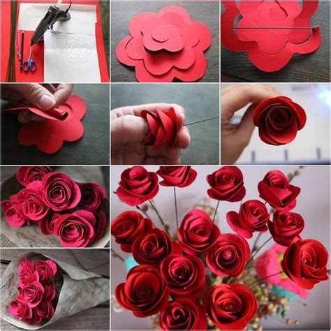 easy unique to make a rose paper flower tutorial youtube beautiful diy red paper roses